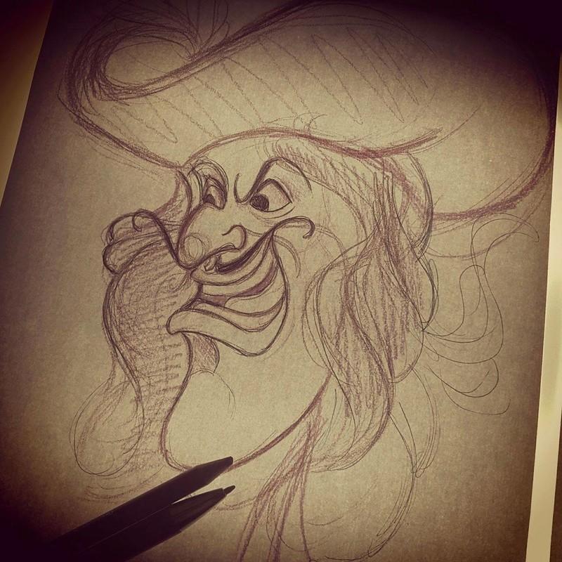 Travail  d'une future artiste tatoueuse . Beaucoup de sujets Disney .  14074410