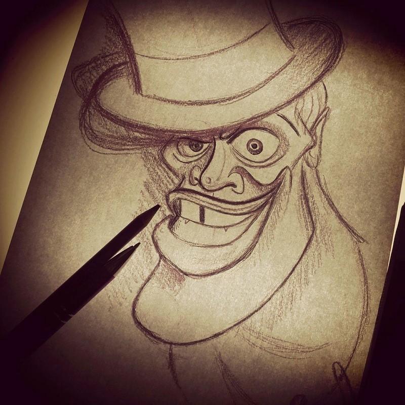 Travail  d'une future artiste tatoueuse . Beaucoup de sujets Disney .  14114010