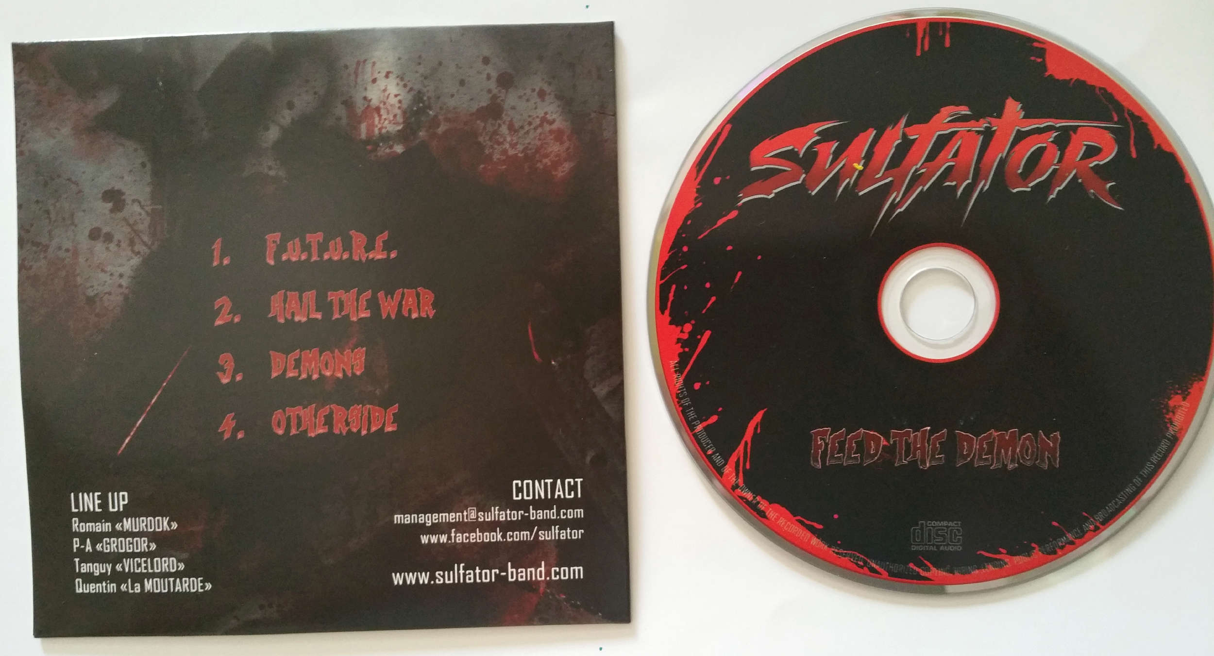 SULFATOR Feed the demon (2015) Heavy/Thrash Toulouse FRANCE 20160710