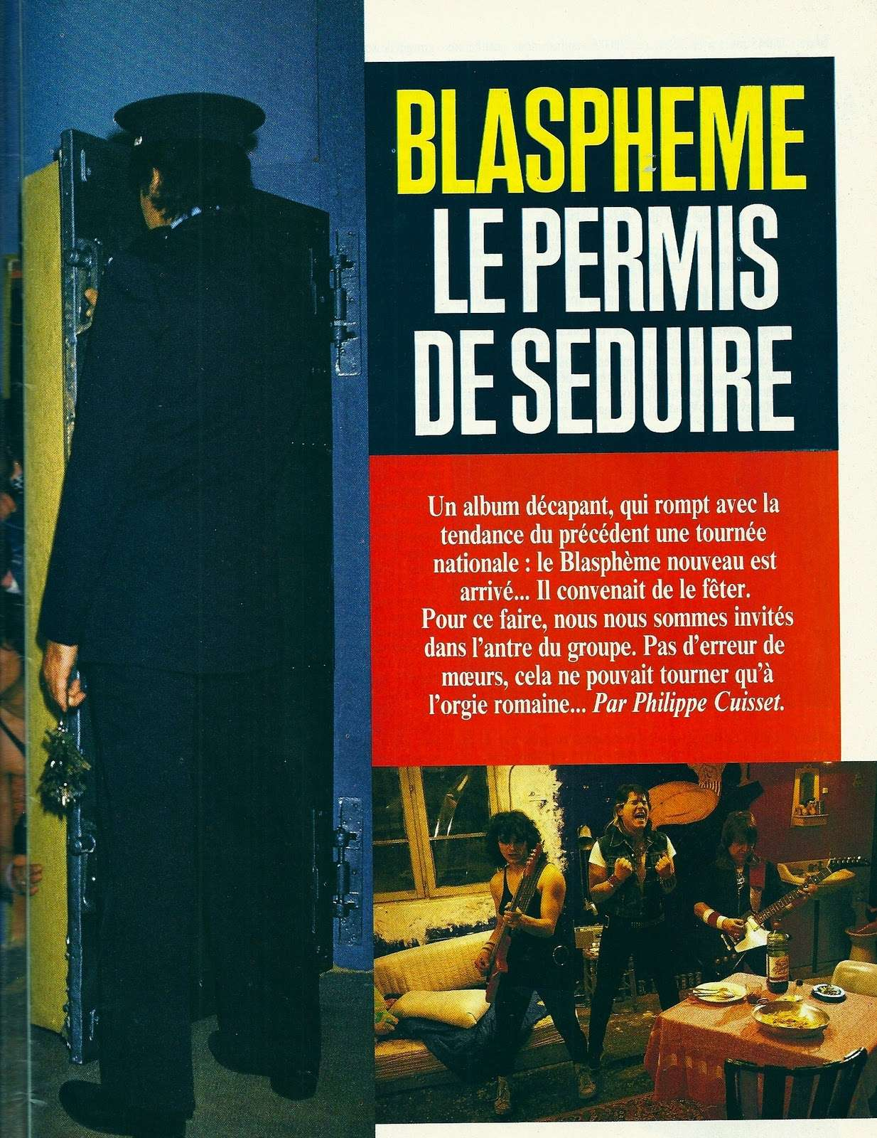 "BLASPHEME interview ""Metal Attack Mai 1985"" ... Blasph10"