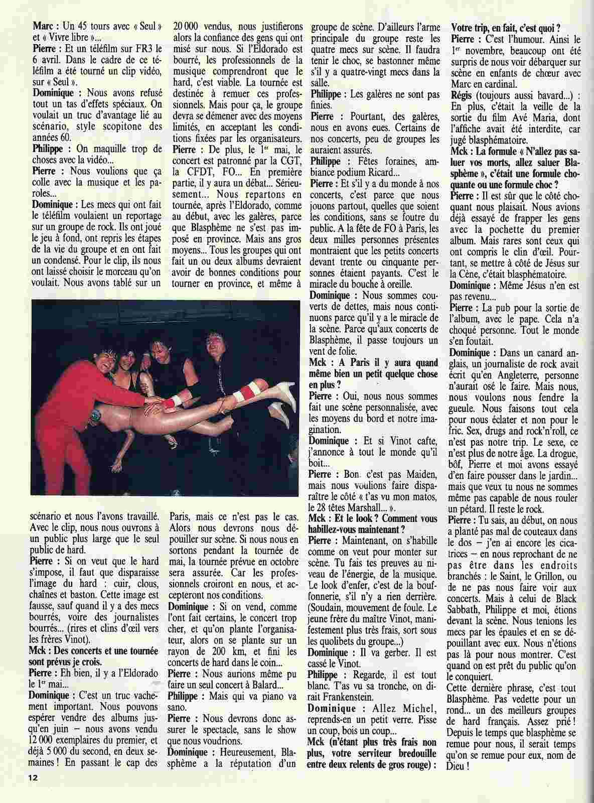 "BLASPHEME interview ""Metal Attack Mai 1985"" ... Blasph11"