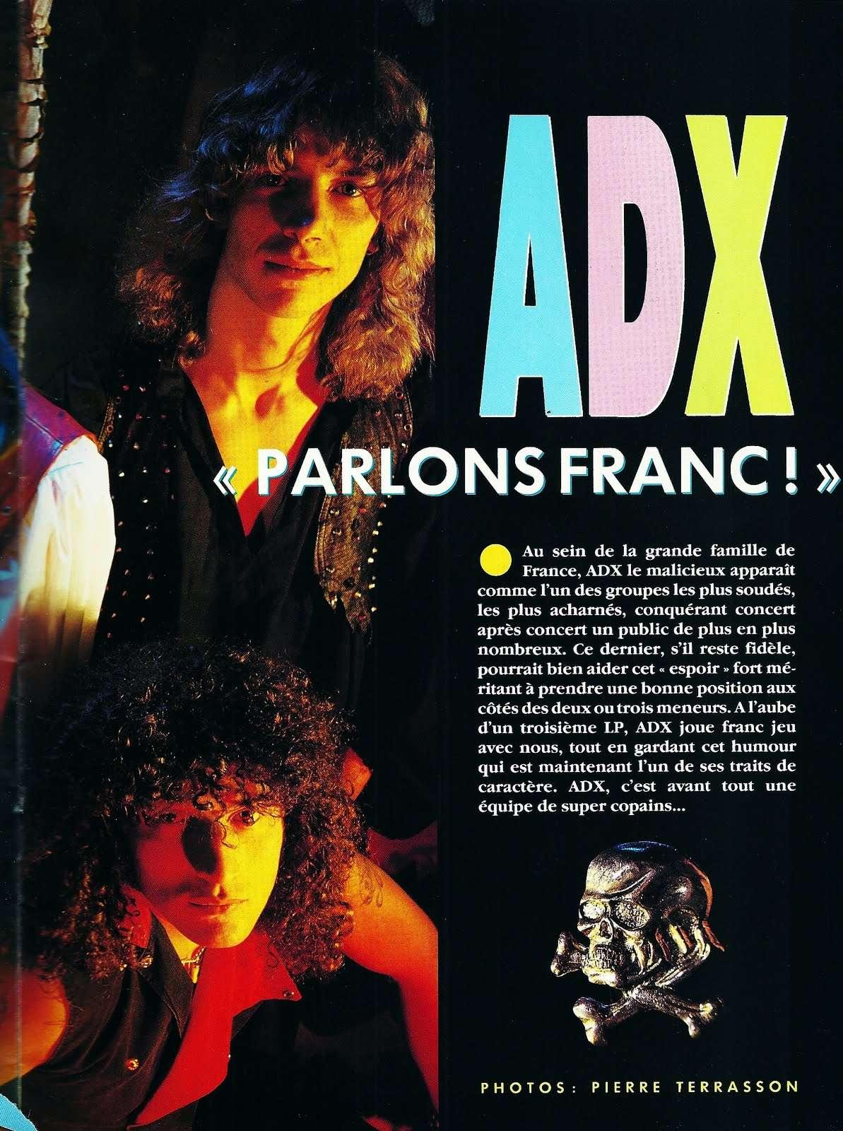 Interview ADX Hard-Rock Magazine Juillet 1987 ... Interv10