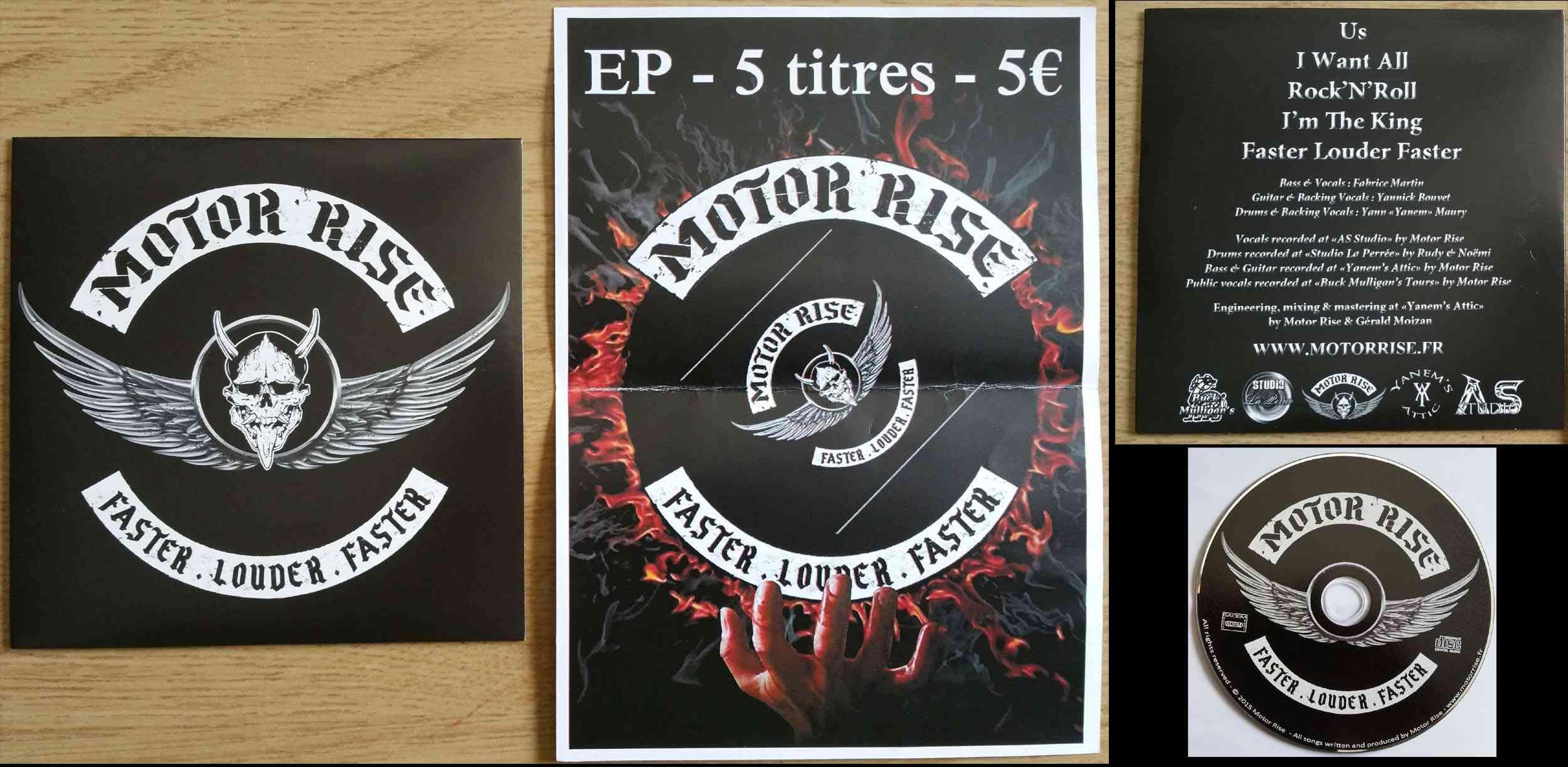 MOTOR RISE Faster Louder Faster (2015) EP Hard-Rock Motor_10