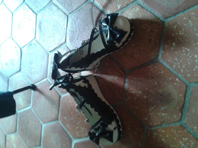 Vente Shoes lolita noire et blanches  20160511