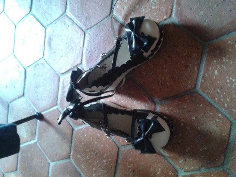 Vente Shoes lolita noire et blanches  20160512