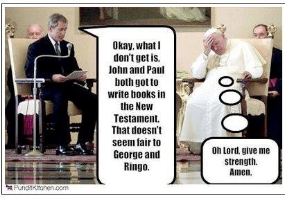 George Bush and the Pope George10
