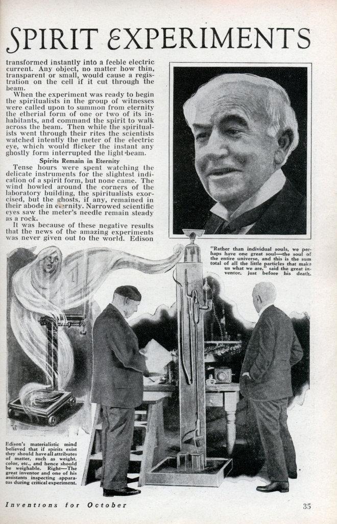 Thomas Edison's Spirit Phone Modern Mechanix 1933 Spirit11