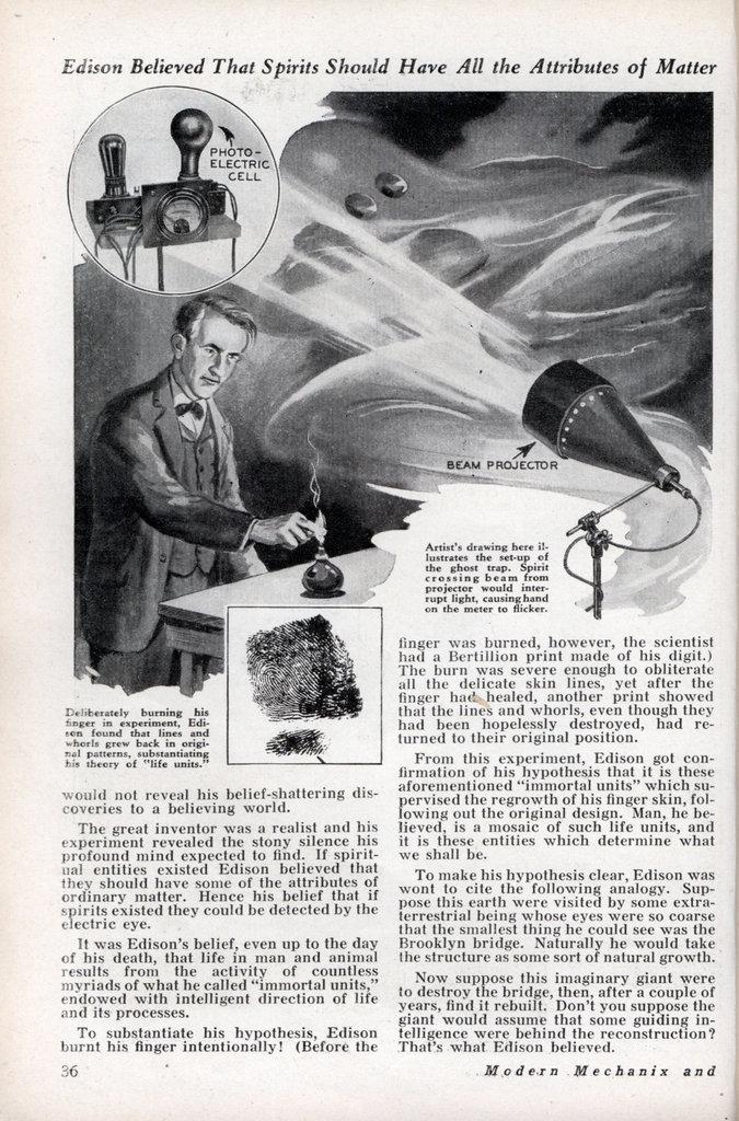 Thomas Edison's Spirit Phone Modern Mechanix 1933 Spirit12