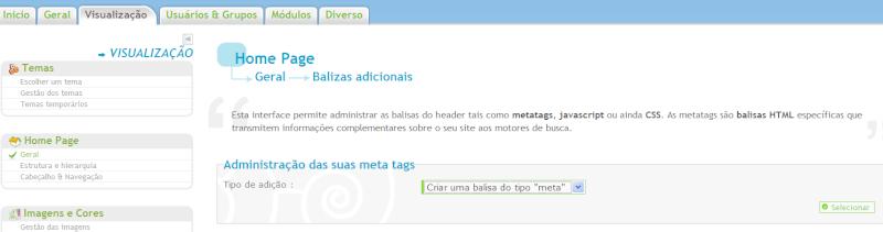 Nova Atualização - Tags adicionais, Favicon personalizado e mais Metata10