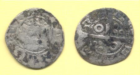 Dinero de Jaime II, ceca Barcelona Vellon10
