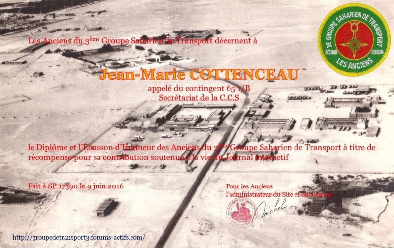 Diplôme d'honneur des Anciens du 3ème GST Jean-m10