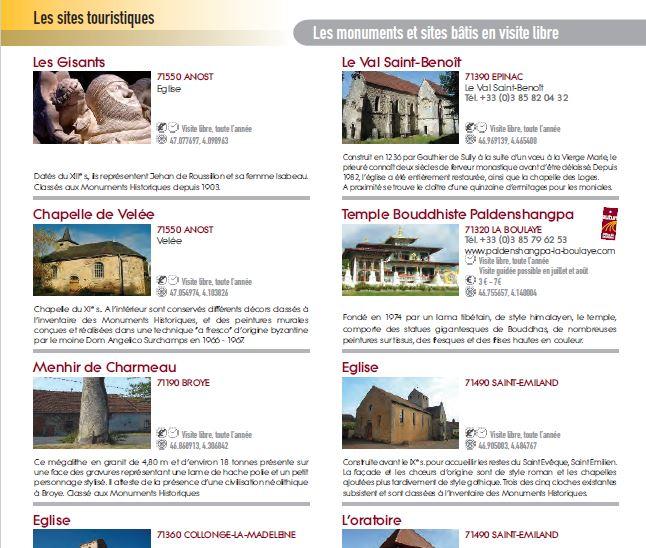 Brochures touristiques, artistiques, historiques en francais dans le Monde (PDF) Captur24