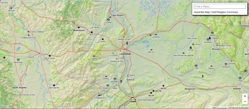 Pelagios & Imperium : Carte interactive du monde Greco Romain Captur36