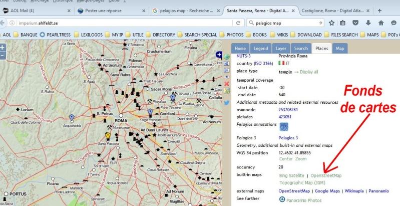 Pelagios & Imperium : Carte interactive du monde Greco Romain Captur39