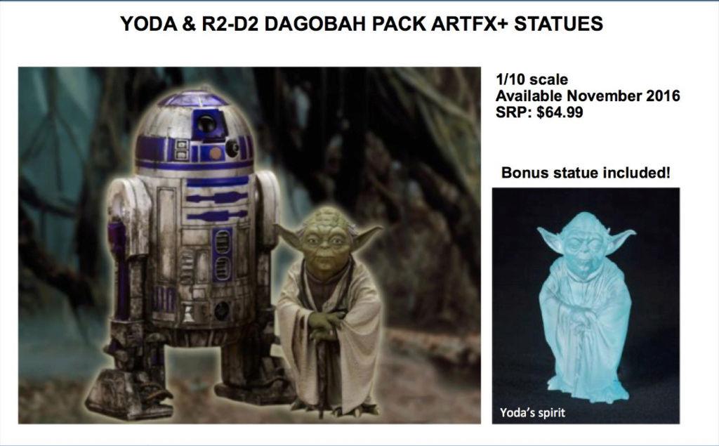 Kotobukiya Star Wars - Yoda & R2-D2 Dagobah pack ARTFX Captur19