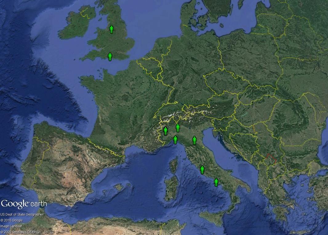 Petite géographie de l'Euro 2016 de football : où est le centre de l'Europe ? Italie10