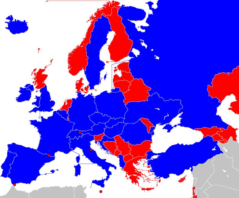 Petite géographie de l'Euro 2016 de football : où est le centre de l'Europe ? Uefa_e11