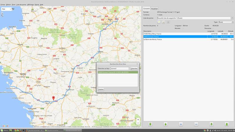 Une solution pour planifier vos déplacements via votre GPS routeconverter Rc10