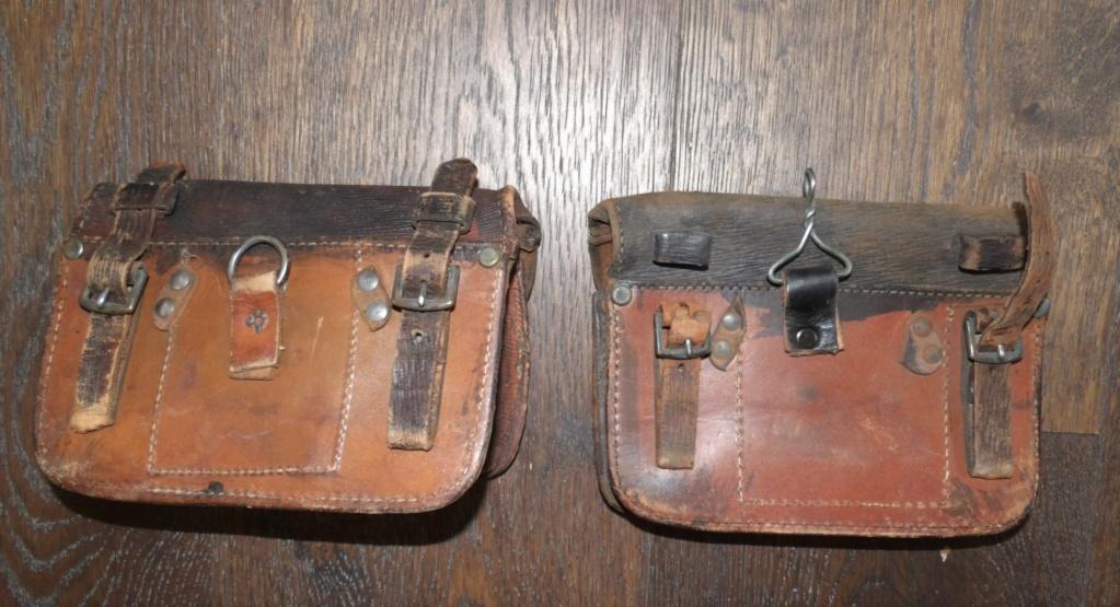 Deux cartouchières en cuir 103_6617