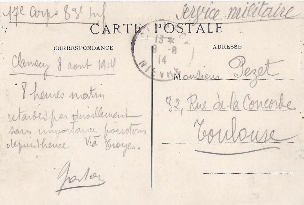 Gaston PEZET mort pour la France en 1914. Pezet_16