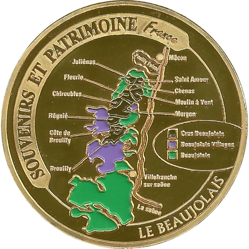 Souvenirs et Patrimoine 34mm  Beaujo10