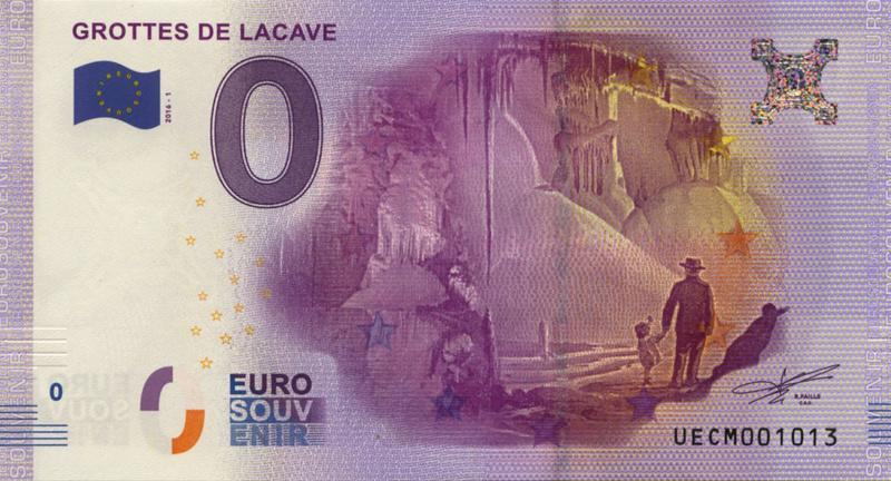 Billets 0 € Souvenirs = 75 Lacave10
