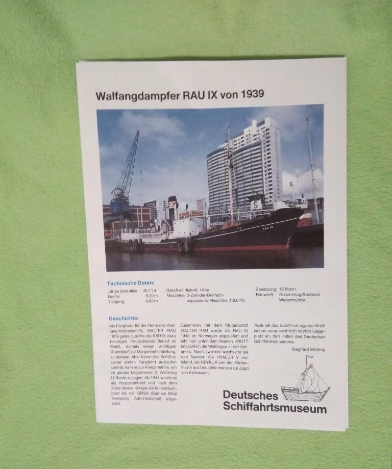 Walfangdampfer RAU IX von Deutsches Schiffahrtmuseum geb. benlut Img_2062
