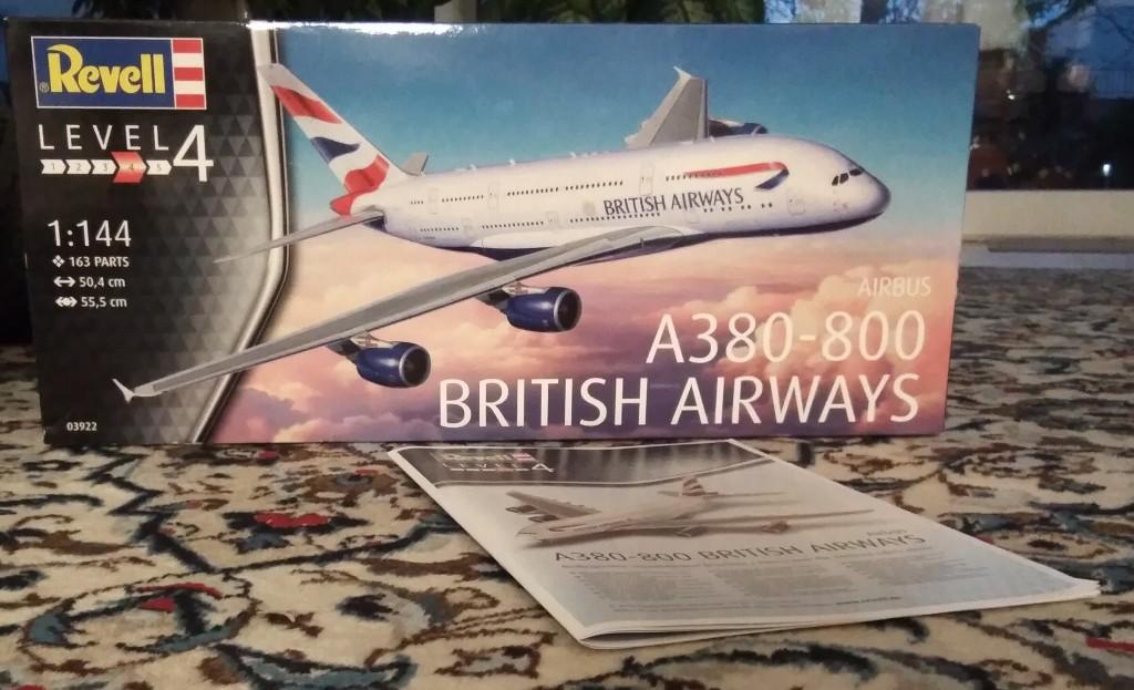 Airbus A380-800 British Airways M1:144 von Revell geb. benlut Img_2079
