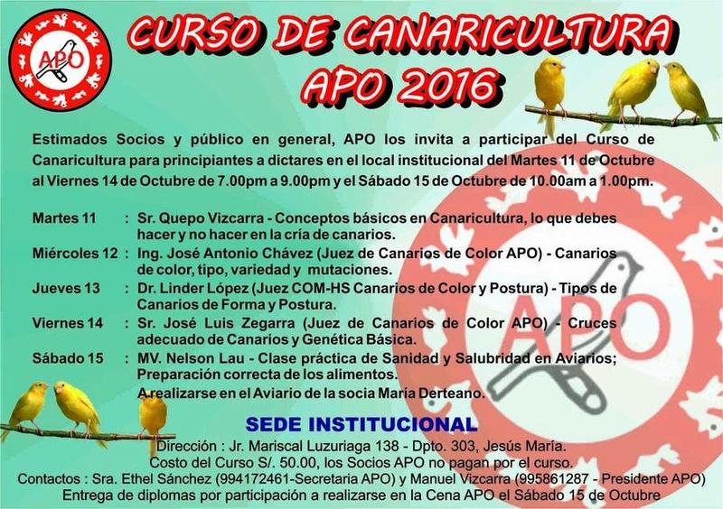 Curso de Canaricultura APO 2016 14113810