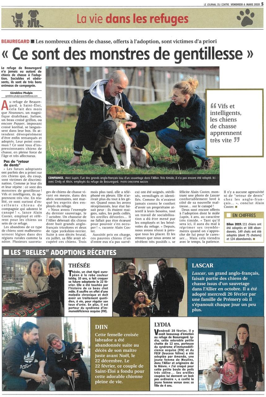 Journal du Centre - Articles sur Beauregard Beaure12