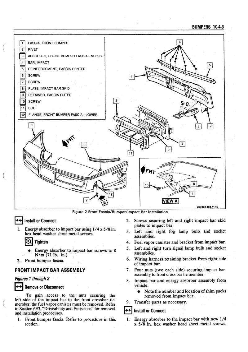 démonter les feux de bouclier avant sur une C4 de 1991 10-4_b11
