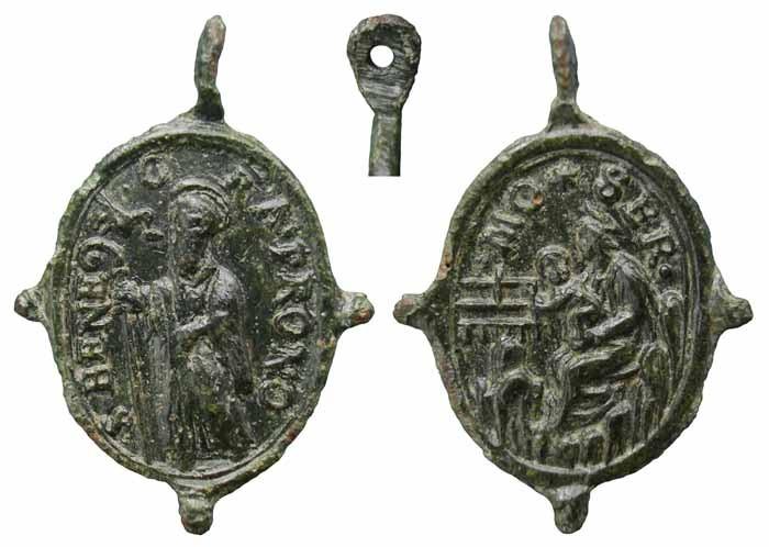 Médaille religieuse S . BENI ORA PIO II 62__st10