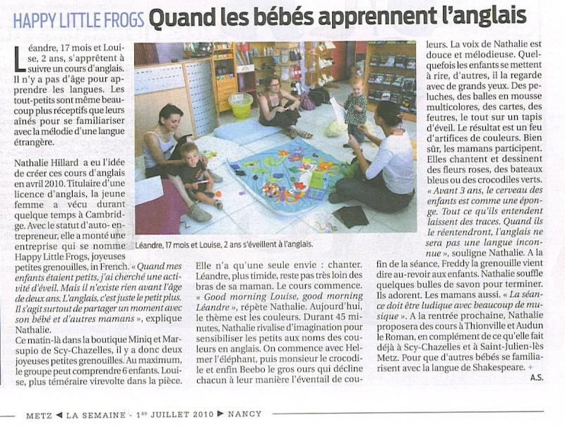 HappylittleFrog, Atelier d'éveil à l'anglais   [info] 20100710