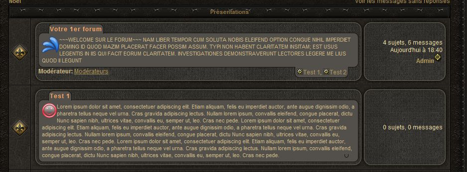 Description des Forums Presen10