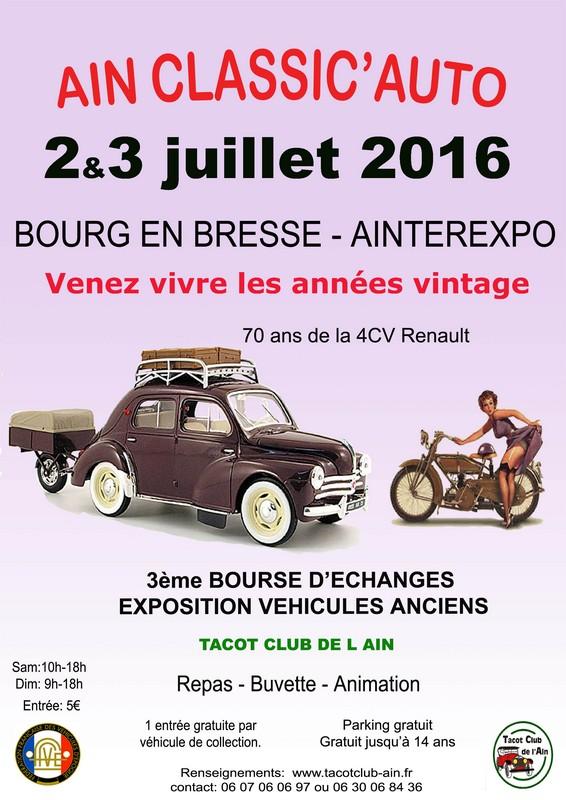 [01] 2/3 juillet 2016 Bourg en Bresse Ain classic'auto 15478010