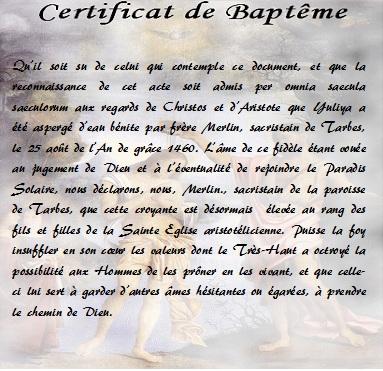 Baptême de Yuliya Yuliya10