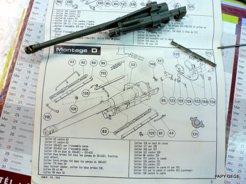 AMX 13 155 Automouvant au 1/35 de heller 06-p1010