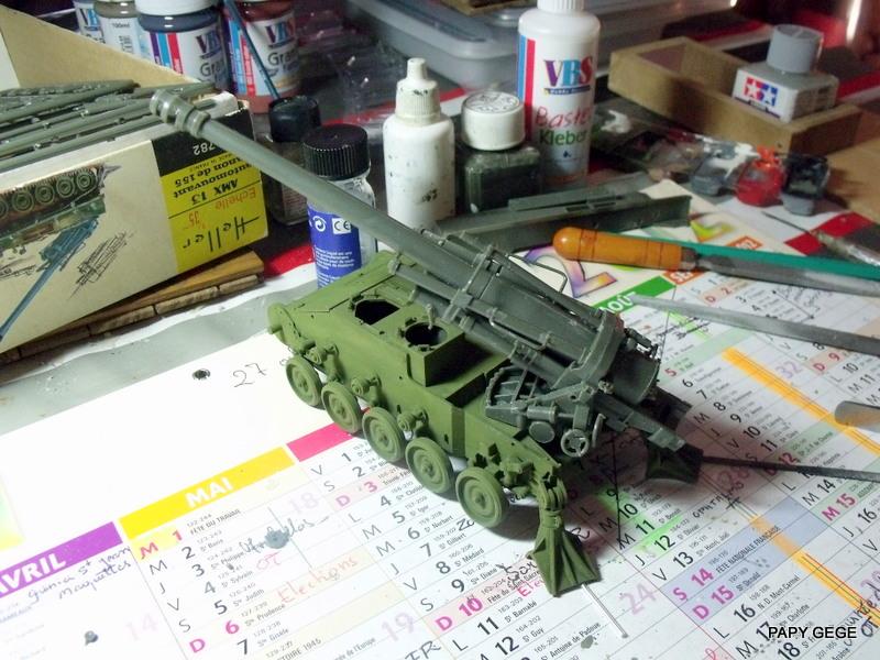 AMX 13 155 Automouvant au 1/35 de heller 14-pds10
