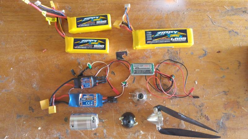 Vends electronique (ESC, Lipo,alimentation,moteur) + cône 20160710