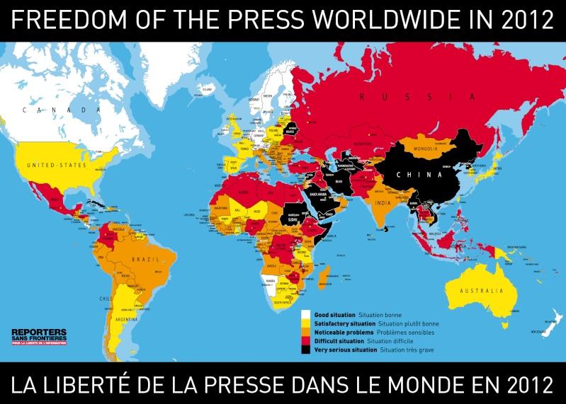RECUL DE LA  LIBERTE DE LA PRESSE ET DE L 'INFORMATION. Presse10