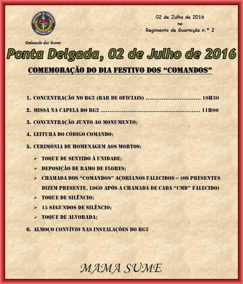 Ponta Delgada: Comemoração do dia Festivo dos 'Comandos' - 02Jul2016  13522510
