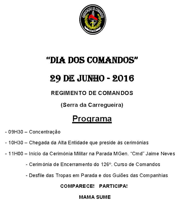 """Cerimónias comemorativas do """"Dia dos Comandos"""", no dia 29 de Junho de 2016 - Serra da Carregueira. Ccmds_10"""