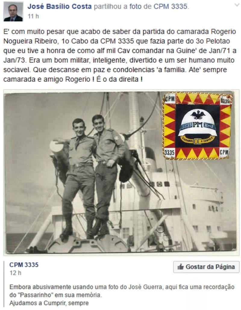 Faleceu o veterano Rogério Nogueira Ribeiro, 1.º Cabo, da CPM3335/CTIG Rogeri10