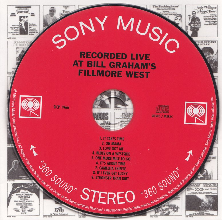 Mike Bloomfield : Live At Bill Graham's Fillmore West (1969) Label10