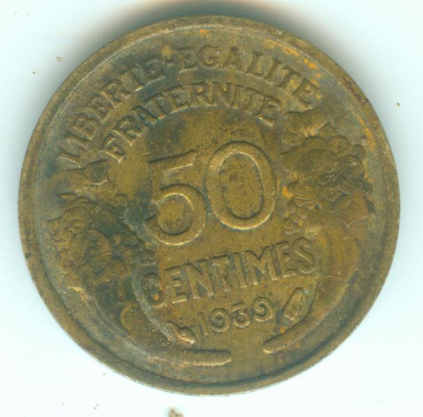 IIIeme république - 50 centimes Morlon - 1939 50ct1911