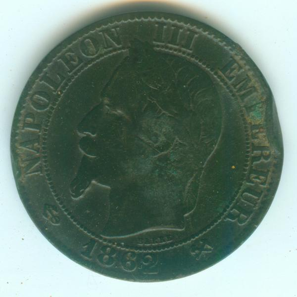 IIe Empire - Napoléon III - 5 centimes 1862 K 5ct18610