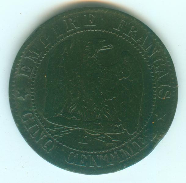 IIe Empire - Napoléon III - 5 centimes 1862 K 5ct18611