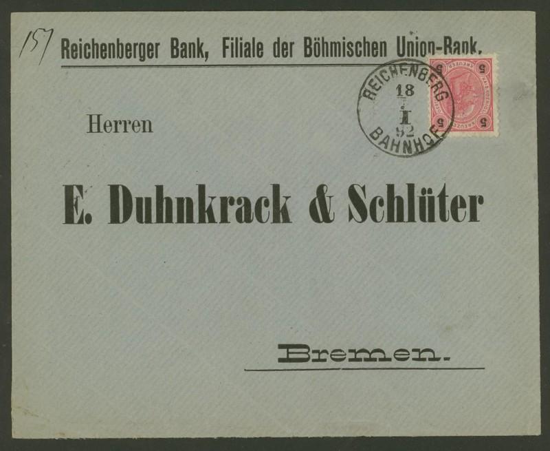 Briefe / Poststücke österreichischer Banken 0119
