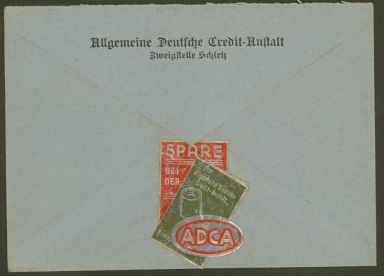 Werbung von Geldinstituten auf Briefen 018_dr11