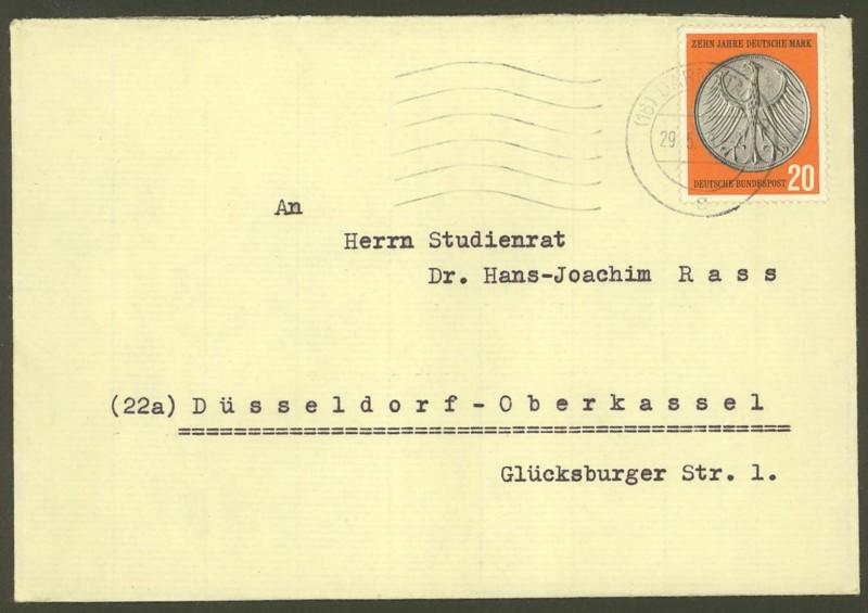 Bundesrepublik Deutschland  -  Einzel- und Mehrfachfrankaturen 29110